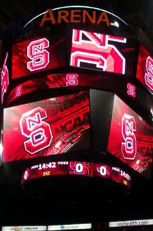 PNC Arena: Beautiful scoreboard
