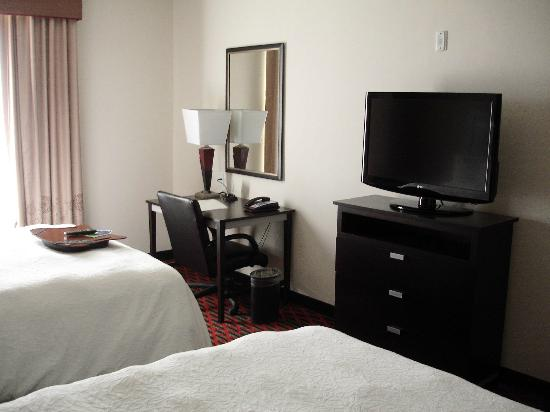 Hampton Inn & Suites Houston/League City: TV and writing table