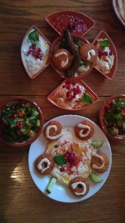 Istanbul Meze & Grill House: Tray of mezes from the starter menu.