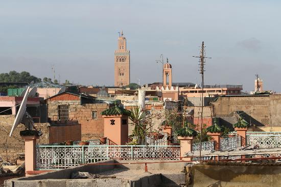 Riad Lila: vue de la terrasse du riad