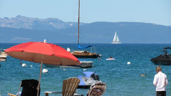 Zephyr Cove, NV: Beach view of Lake Tahoe