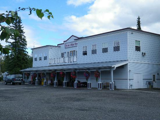 River's Edge Resort: Der Eingang zur Lobby.
