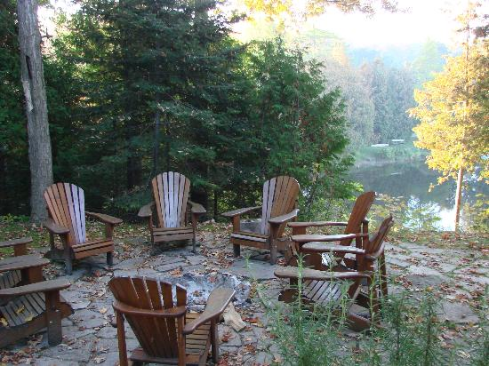 Sauble Falls Bed & Breakfast: Relax around the fireplace