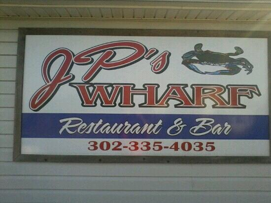 JP's Wharf: JP's sign out front