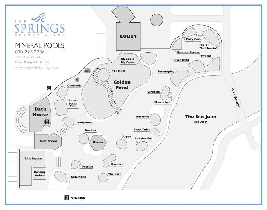 Pools Map - Picture of The Springs Resort & Spa, Pagosa Springs ...