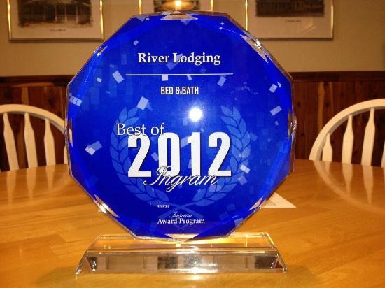 River Lodging B & B: 2012 Best of Ingram Award