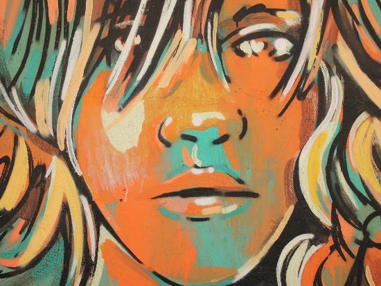 Circolo degli Artisti: Close up of graffiti at CdA