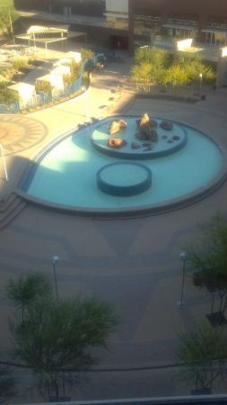 Talking Stick Resort: View of sitting area from my room