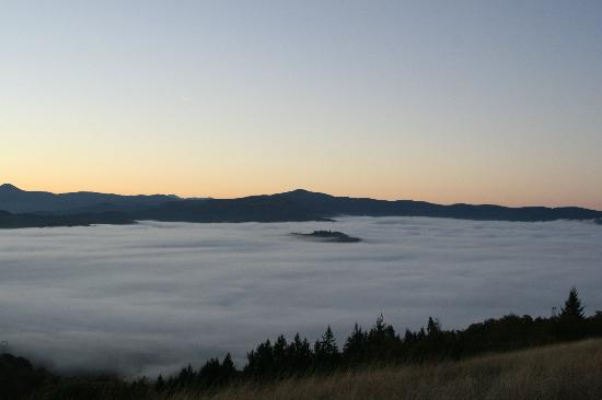 Mount Pisgah: Rising above the clouds of the valley below.