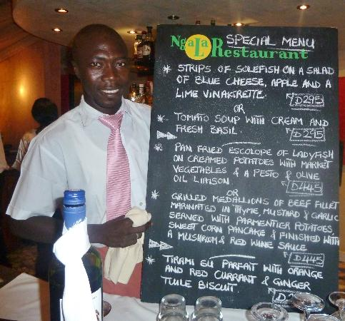 Ngala Lodge : And this was just one menu....