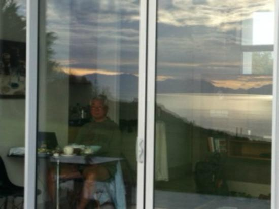 The Waters: Reflection of the ocean in our windows during breakfast