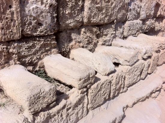 Theatre at Caesarea National Park: туалеты на входе в амфитеатр