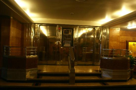 The Queen Mary: Original brass elevator doors