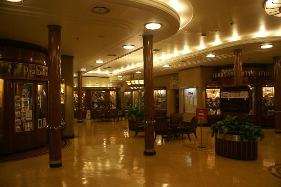 The Queen Mary: Promenade Deck Shopping Arcade