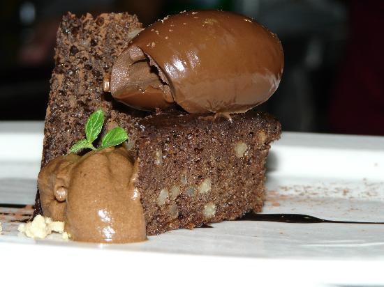 La Posada de Ariant Restaurant: tarta de chocolate