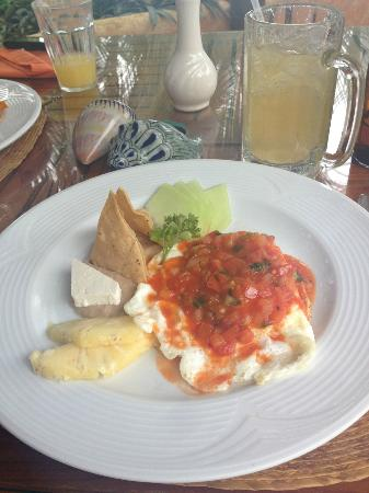 Playa Escondida: Huevos rancheros