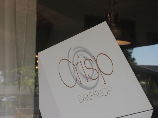 CRISP sign on window