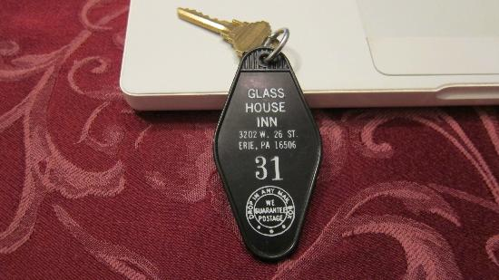 Room Key for Glass House Inn - Retro!