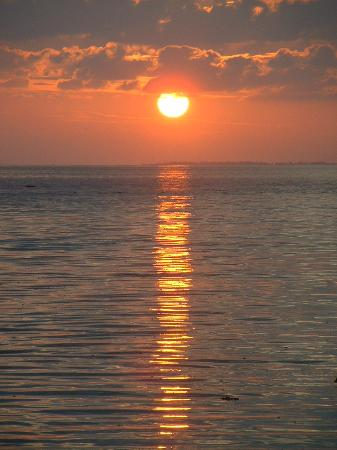 Kuramathi Island Resort: Sunset from the beach villa