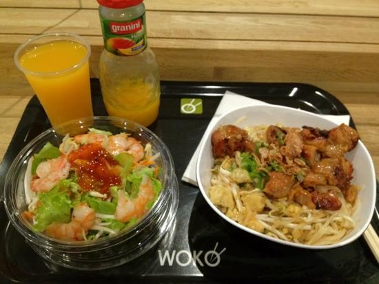 Woko: menu 12.9= starter+plate+dessert+drink