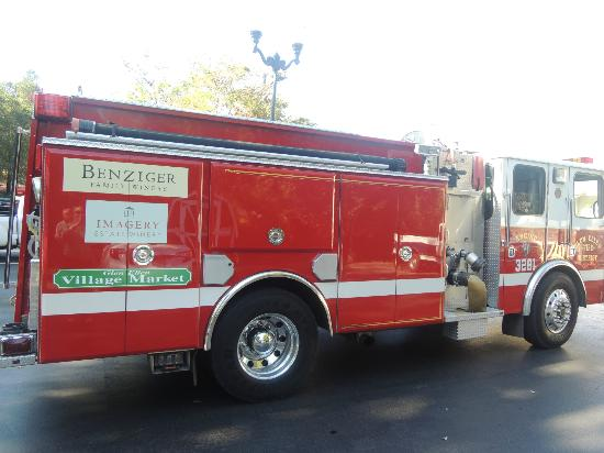 Glen Ellen Village Market: Firetruck with Village Market name on the side