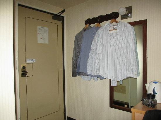 Ueno First City Hotel: No Wardrobe