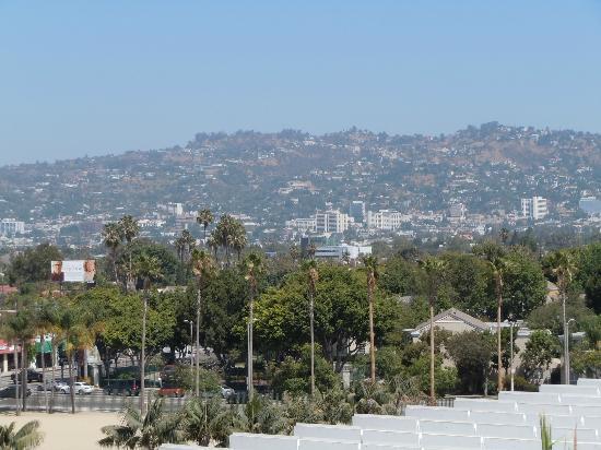 Los Angeles County Museum of Art: ミユージアム上階からビバリーヒルズの住宅街が見える。