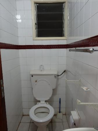 Methodist Resort: View of toilet from shower