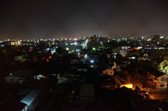 Suizenji Comfort Hotel: 8階からの眺め・夜