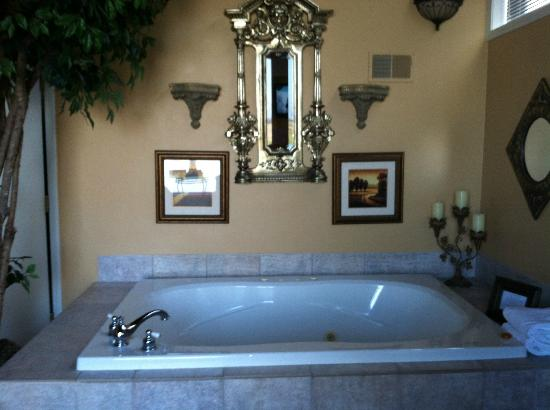 Castle in the Country Bed & Breakfast Inn: Jacuzzi Area