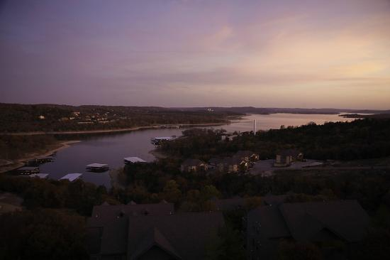 Treehouse Condominiums: Sunset view from our 3rd floor luxury condo