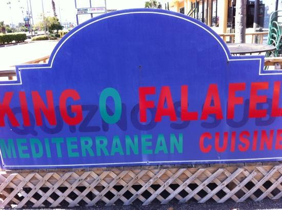 King O Falafel: signage