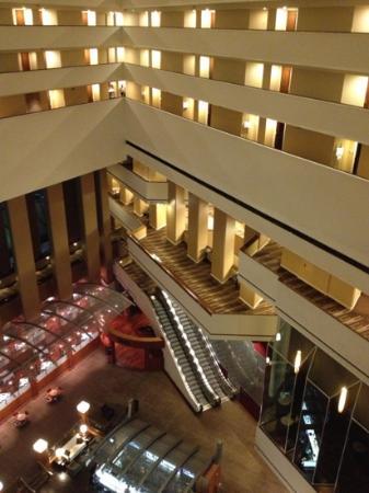 Hyatt Regency Houston: Looking down from the 8th floor.