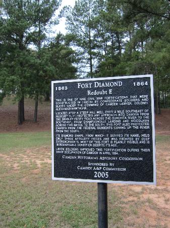 Camden, AR: Fort Southerland Park sign