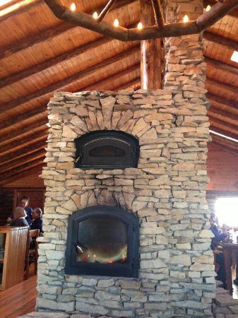 Great fireplace Picture of Lazy Bear Cafe Churchill TripAdvisor