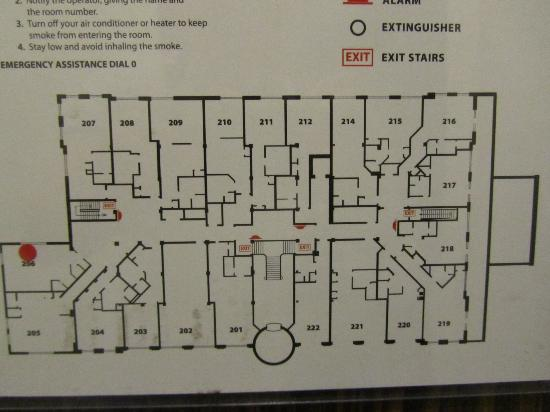 Sterling Inn & Spa: 2nd level floor plan
