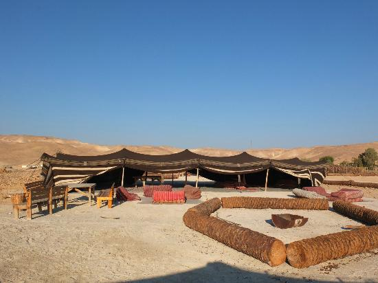 Kfar Hanokdim : One of the sleep tents