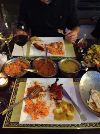 Salaam Bombay, menu voor 2