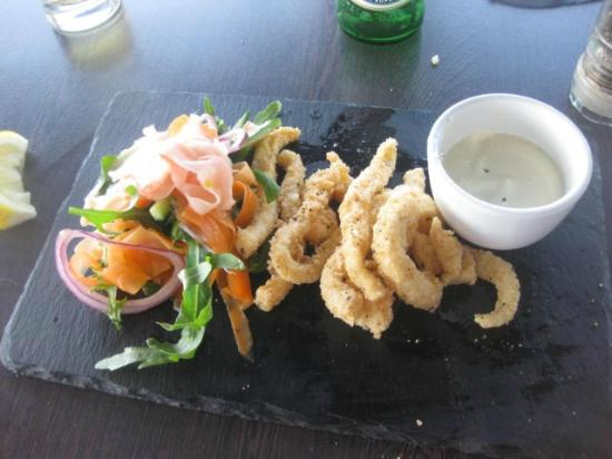 Tea Gardens Boatshed: Salt and Pepper Squid - sorry I'd demolished half the plate before pic!
