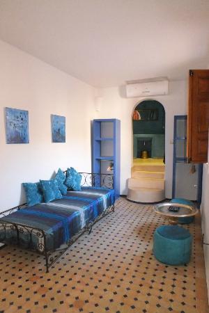 Dar Faracha Fes: chambre bleue