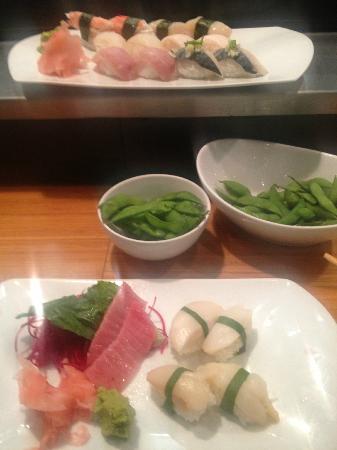 Oysy: Toro and Abalone sashimi