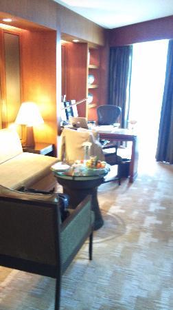Conrad Bangkok Hotel Living Room With Work Desk