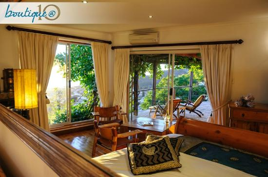Boutique @ 10 : Looking out the Ocean Suite towards the Clifton area ...