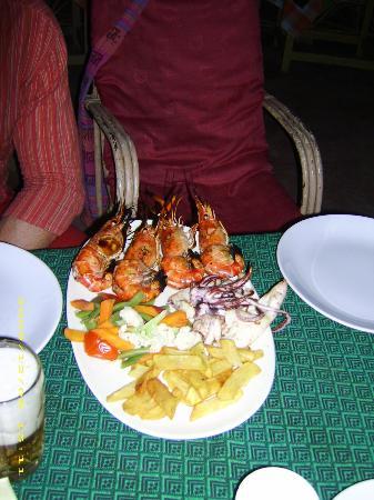 Sunshine Cafe/Sea Food Restaurant: Shirmps gegrillt