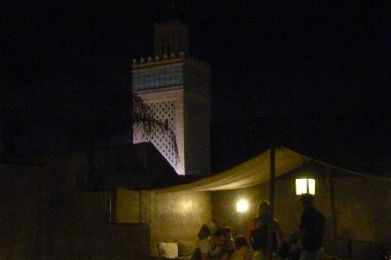 Riad Awa: vue de nuit de la terrasse