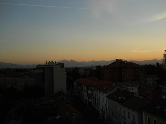 Hotel Selide: View of the Alps from my room