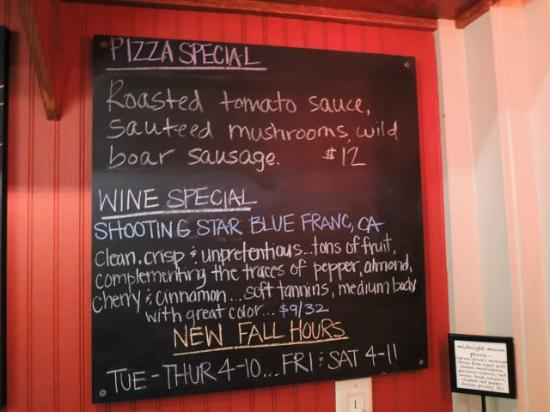 Half Full Restaurant: Special Board