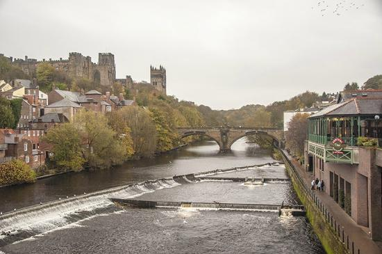 Rushyford, UK: Durham Castle from River