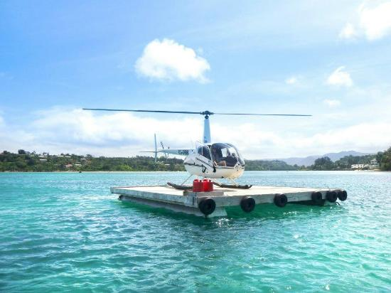 Beach Landing With Vanuatu Helicopter For Lunch At  Picture Of Vanuatu Helic