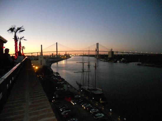 The Bohemian Hotel Savannah Riverfront, Autograph Collection: View from rooftop bar